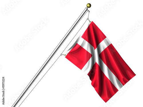 Wallpaper Mural Isolated Danish Flag