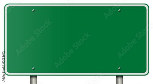 Photo Blank Freeway Sign Isolated on White
