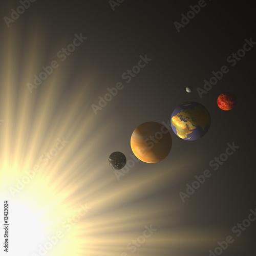Canvas Print Planeten