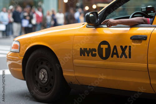 Wallpaper Mural Yellow Cab New York