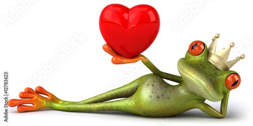 Grenouille amoureuse