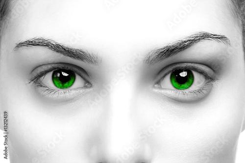 Slika na platnu Green eyes