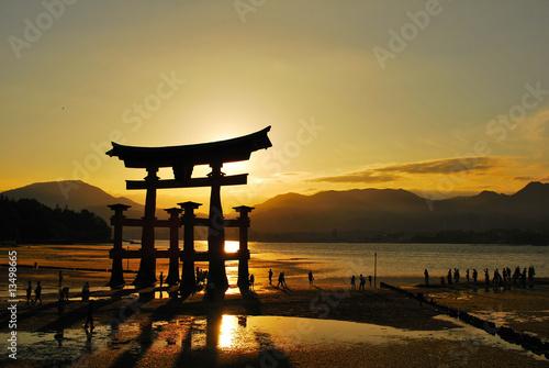 Torii gate of shrine Fototapeta