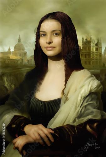 Wallpaper Mural Mona Lisa