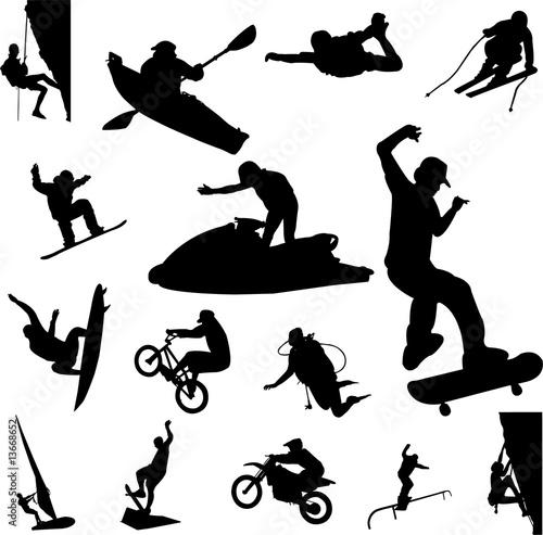 Fotografia extreme sport - vector