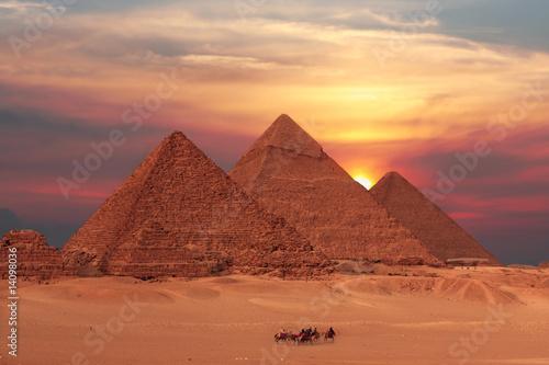 Carta da parati pyramid sunset