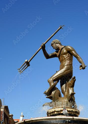 Obraz na płótnie Neptun sculpture in Gdansk - Fountain