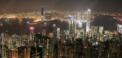 Hong Kong (Hongkong) China - Skyline bei Nacht