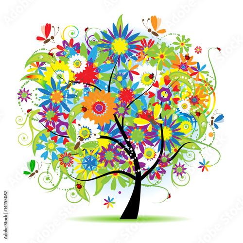 Floral tree beautiful #14455062