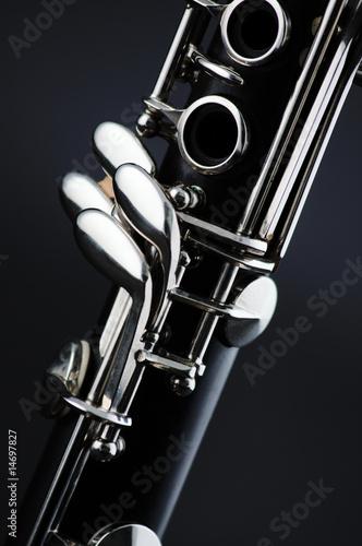 Obraz na płótnie Clarinet isolated on Black