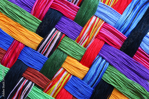 Obraz na plátne Embroidery threads