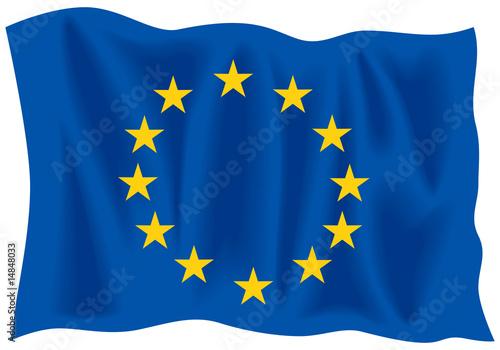 Fotografia Waving flag of European Union