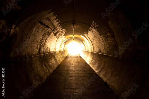 Stampa su Tela light at the end of the tunnel
