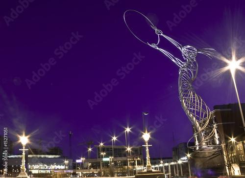 Fototapeta Sculpture ring of thanksgiving in Belfast Ireland