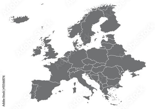 Europa Karte Vektoren