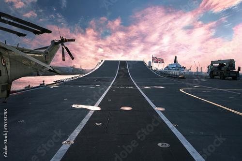 Canvas Print HMS Ark Royal aircraft carrier flagship of  British Royal Navy