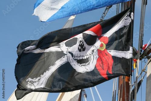 drapeau de pirate Fototapeta