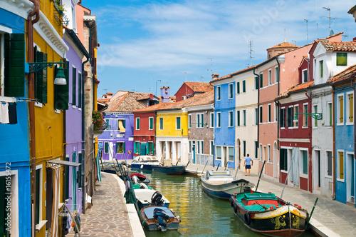 Canvas Print Kanal in Burano Venedig