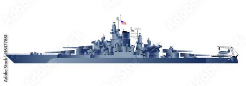 Fotografía Detailed vector illustration of battleship Tennessy.