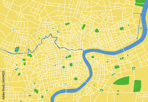 Fotografie, Obraz vector map of shanghai.