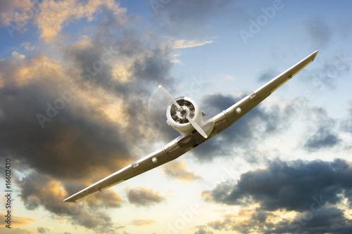 Canvas Print war propeller fighter plane