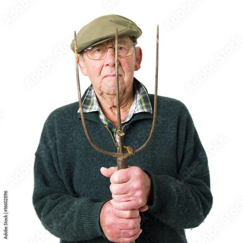 Tablou Canvas Senior man with tool