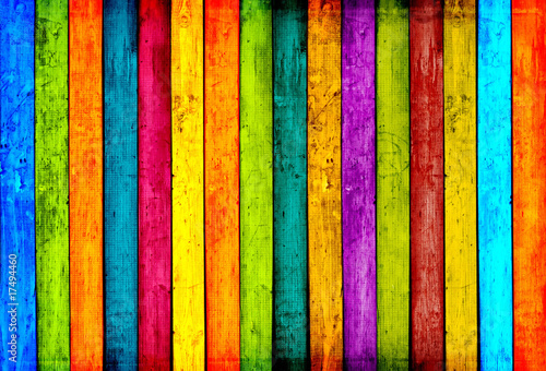 Kolorowe deski drewniane tła