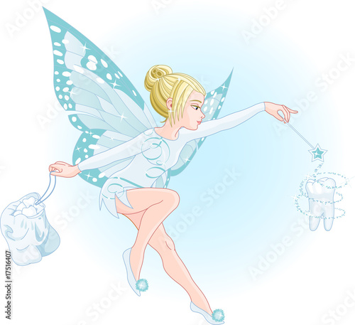 Tooth fairy with magic wand