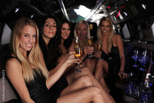 Stampa su Tela party in der strech limousine