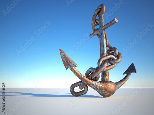 Fotografía Rusty anchor