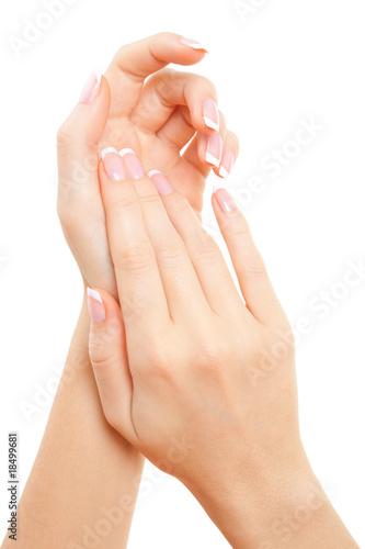 care for sensuality woman hands Fototapeta