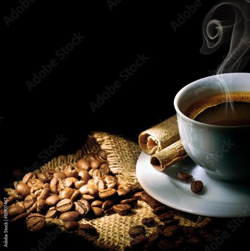 Coffee isolated on black #18907467