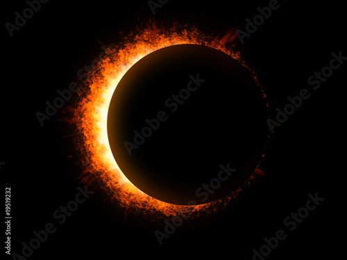 Sonnenfinsternis im Weltall