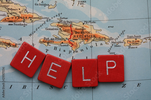Fotografie, Obraz Help Haiti I donate your download