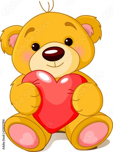 Bear with heart #20037816