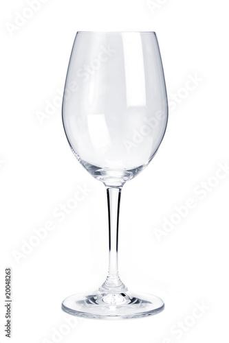 Empty red wine glass