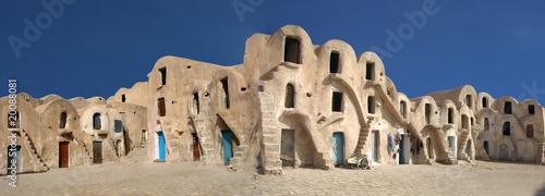 Fotografie, Obraz caravansérail dans le désert de tunisie