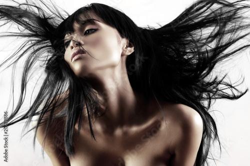 Fototapeta premium Dmuchanie włosów