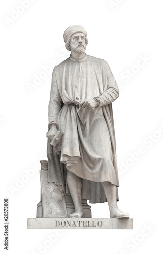 Canvas Print Donatello statue in Florence, Italy