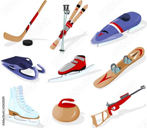Obraz na płótnie Winter sport, tools