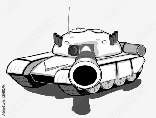 vector tank Fototapet