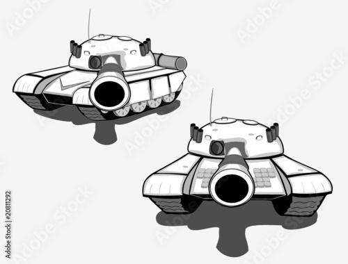 Fotografiet Set of military tanks