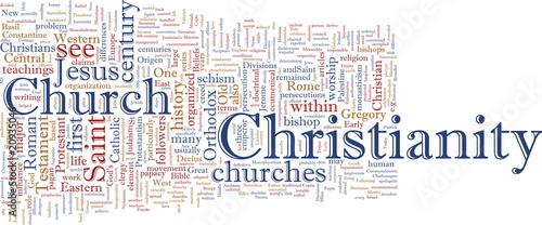 Fotografia, Obraz Christian word cloud