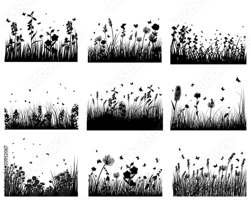 meadow silhouettes #20952067