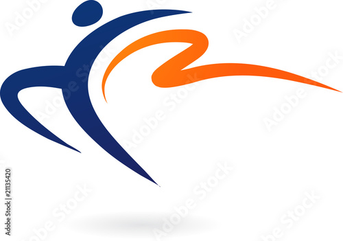 Sport vector logo - gymnastics #21135420