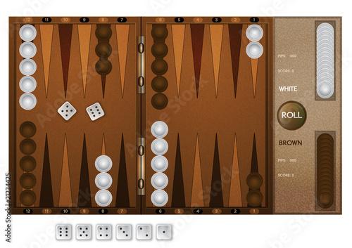 Murais de parede Backgammon