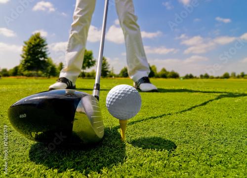 Slika na platnu Golfplayer
