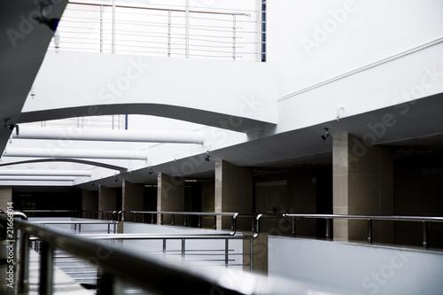 Columns and metal details of an interior of modern office Fototapeta