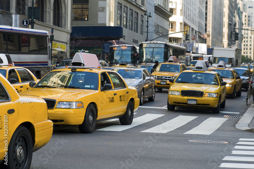 Canvas Print New York cabs