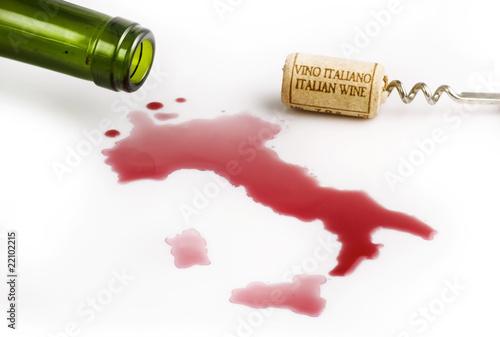 Foto vino rosso italiano